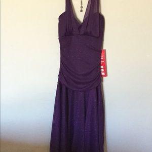 BCX Purple Dress Size Medium